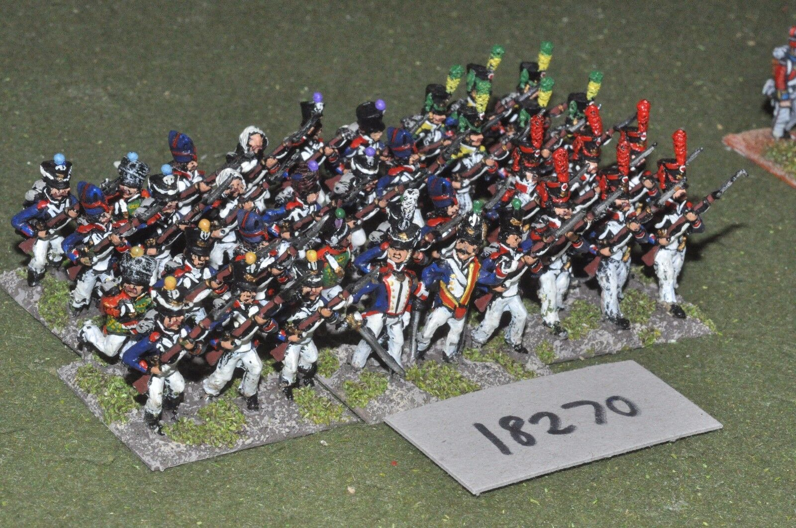 25mm napoleonic   french - infantry 36 figs - inf (18270)
