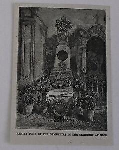Pequeno-1883-Revista-Grabado-Familia-Tomb-Of-Gambettas-en-Buenas-France