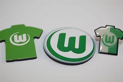Vfl Wolfsburg 3er Set - Trikotpin,logo Magnet ,magnet Trikot Bundesliga