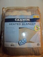 Queen Heated Blanket, Cannon, Dual Controller,Sherpa Bedding,  TAUPE , New