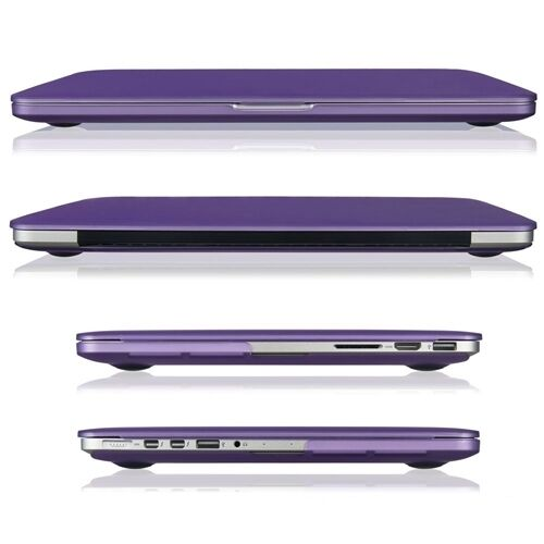 """DEEP PURPLE Rubberized Hard Case for Macbook Pro 13/"""" A1425 with Retina display"""