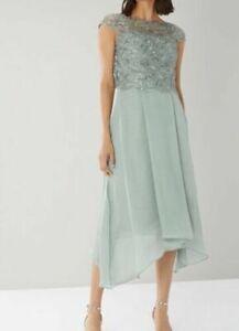Coast-Jade-Embroidered-Sage-Bodice-Cocktail-Occasion-Midi-Dress-UK-SIZE-6-to-18