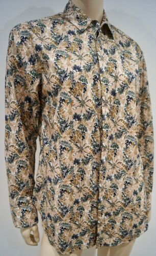 Print Sz Bone m Floral Cotton amp; Rag Multi Beige colour Blouse 100 Shirt Top R6x8w7q8