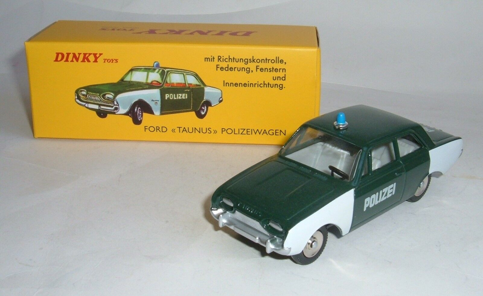 Atlas   Dinky Toys No. 551, Ford Taunus Police Car, - Superb Mint.