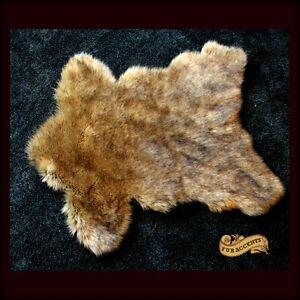 Fur Accents Faux Sierra Bear Skin Fur Pelt Rug Deer Skin
