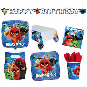 The Angry Birds Movie Childrens Party Supplies Decoration Tableware