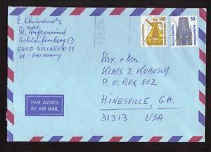 Solingen, Allemagne De L'ouest -- 1989 Air Mail Cover To Usa-afficher Le Titre D'origine