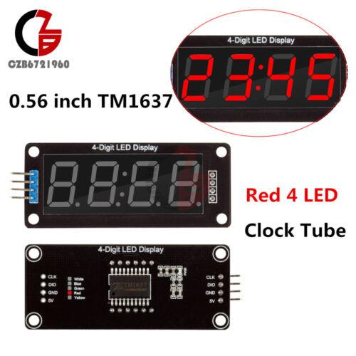 Red 0.56 Inch TM1637 4-Bits Digital LED Display Clock Tube Display for Arduino