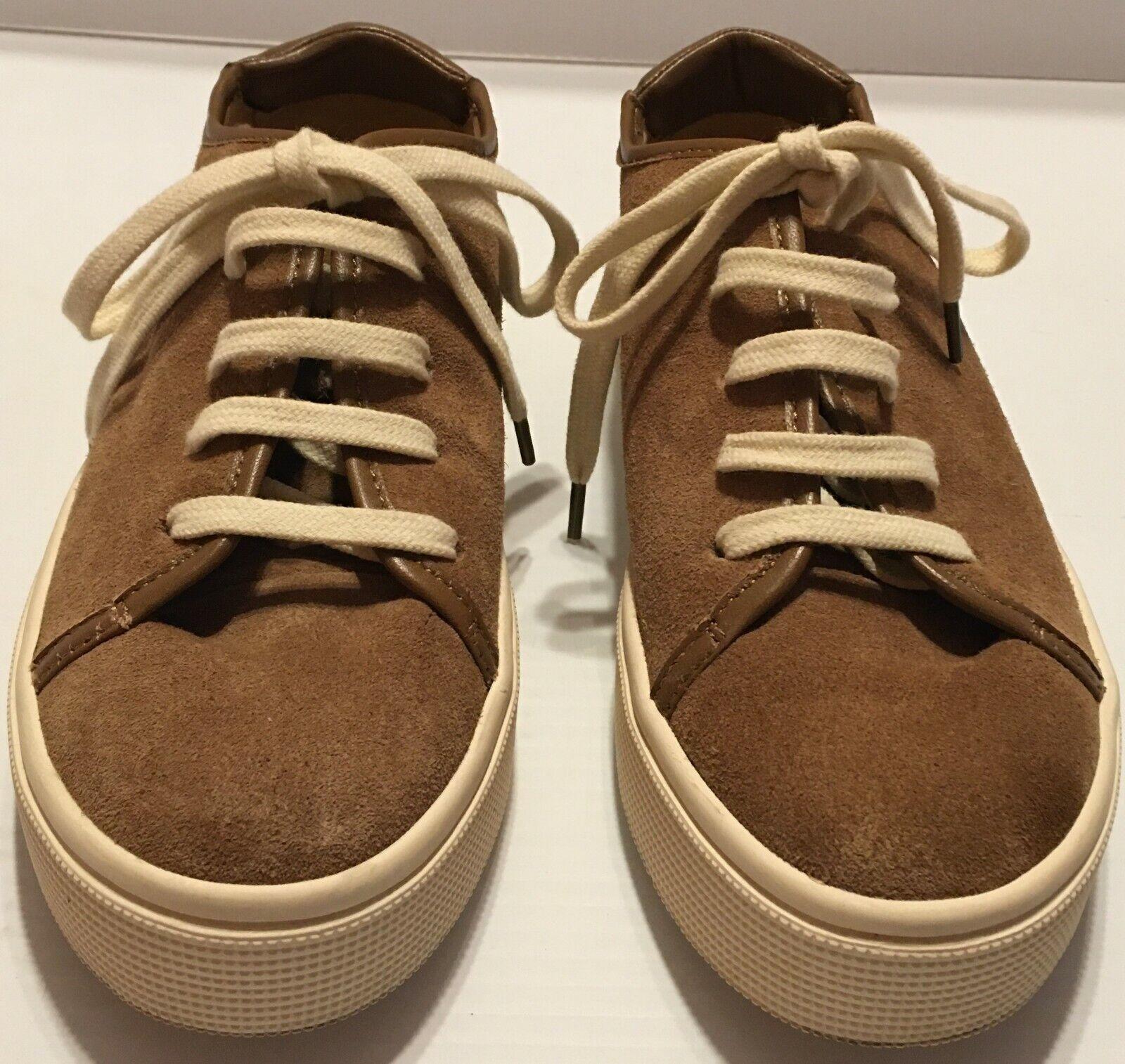 Splendid Women's Shoes Norvin Leather Low Top Lace Up Suede Sneakers Oakside 6.5
