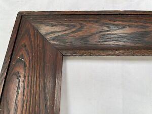 """Antique Fits 10"""" X 20"""" Antique Dark Fumed Tiger OAK Mission Style Wooden Frame"""