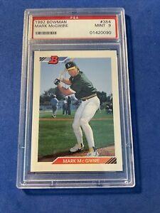 1992 BOWMAN #384 MARK MCGWIRE PSA 9 GRADED BASEBALL CARD