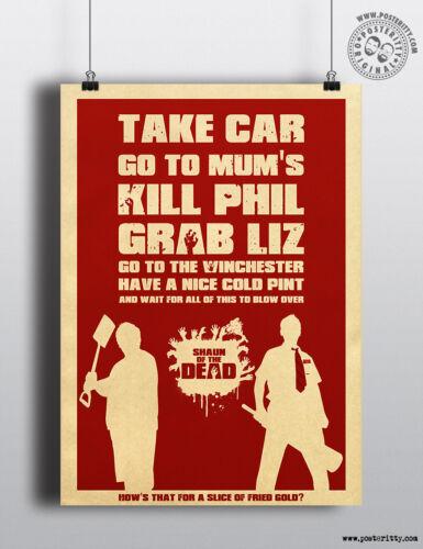 SHAUN OF THE DEAD Quote Minimalist Poster Minimal Print Posteritty Cornetto