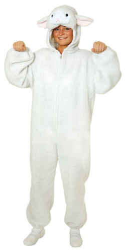 PECORA AGNELLO AGNELLINO lämmlein grazioso COSTUME OVERALL Peluche Pecora Costume Bambini