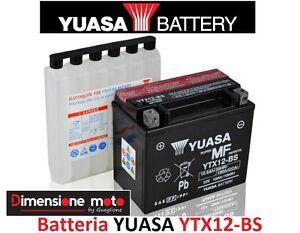 Batteria-YUASA-YTX12-BS-12V-10Ah-034-MF-034-per-Daelim-S2-SQ-250-Freewing-dal-2006