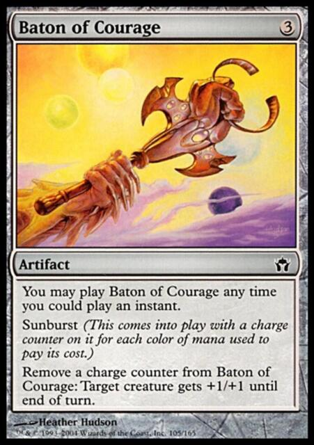 MTG Magic - (C) Fifth Dawn - Baton of Courage - SP