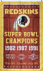 Washington-Redskins-NFL-Super-Bowl-Championship-Flag-3x5-ft-Banner-Man-Cave