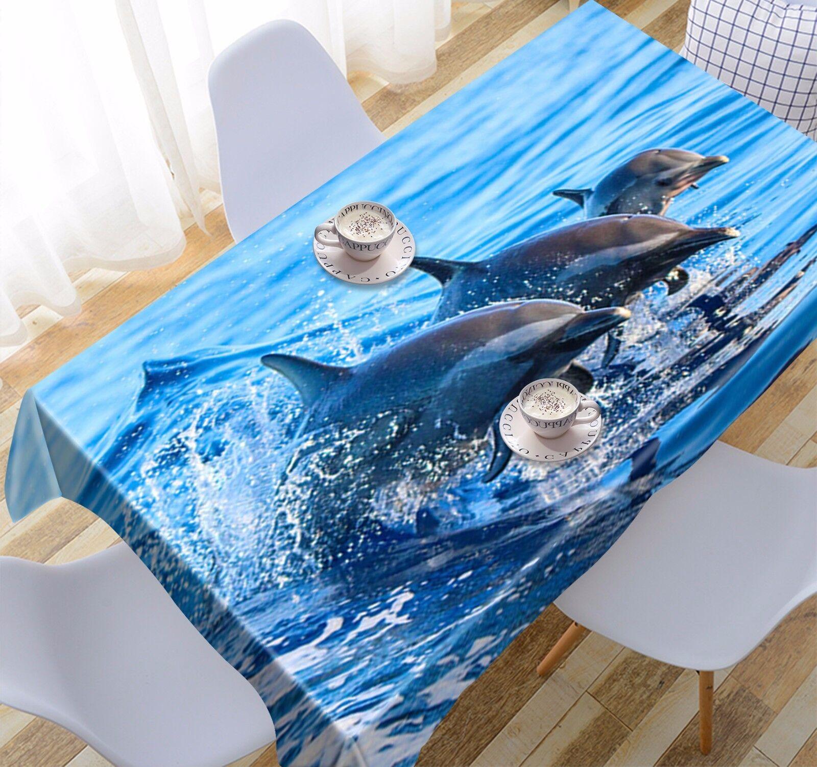 3D Dolphin Nappe Table Cover Cloth fête d'anniversaire AJ papier peint Royaume-Uni Citron
