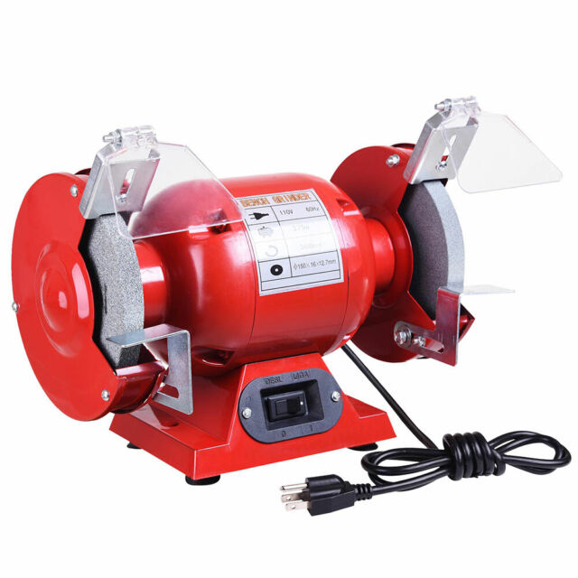 Amazing 6 Bench Grinder 1 2 Hp 3450 Rpm With Tool Rests Eye Shields Sharpener Polisher Short Links Chair Design For Home Short Linksinfo