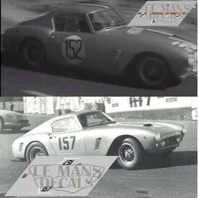 Decals Ferrari 250 GT Tour France Auto 1956 1:32 1:24 43 18 64 87 calcas