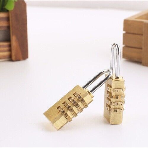 4 Digit Combination Approved Padlock for Travel Suitcase Luggage Lock Locker