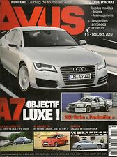 AVUS 5 AUDI A8 L W12 S5 SPORTBACK 200 TURBO QUATTRO PRODUCTION 1986 540CH A6 AVA