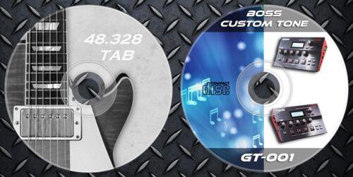 /& 48.328 Gitarre Noten Tab 2.736 Patches BOSS GT-001 Multi Effects