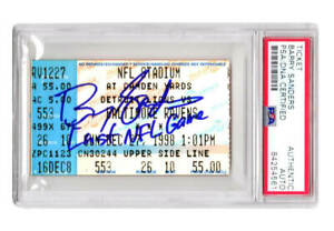 Barry Sanders Signed Lions Dec 27, 1998 Ticket Stub w/Last NFL Game -  PSA/DNA
