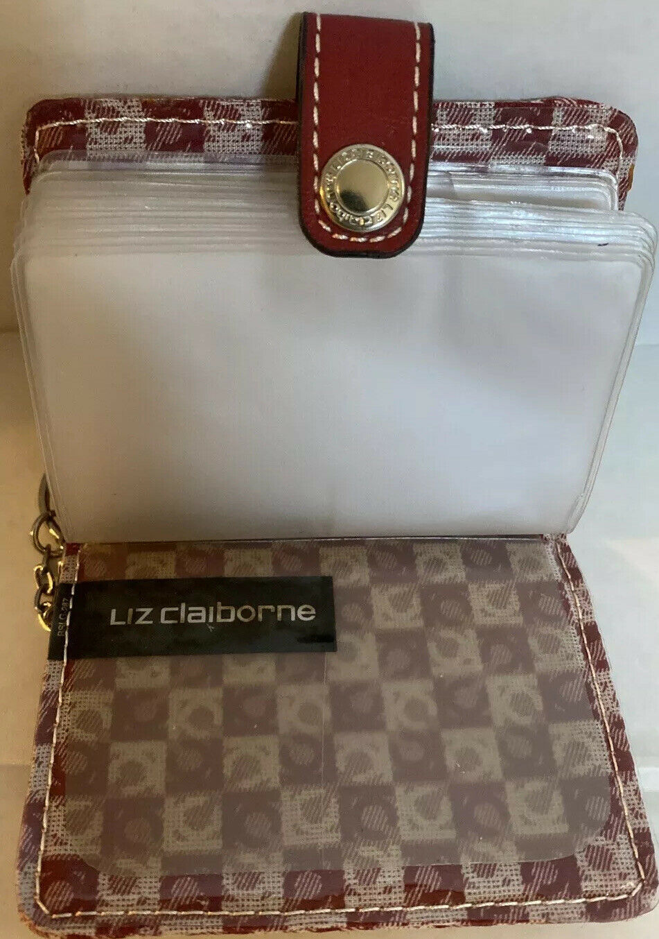 Liz Claiborne Berguny Card and ID Leather Wallet