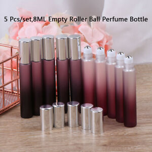 5Pcs-Set-8Ml-Glass-Roll-On-Bottles-Thin-Roller-Ball-Perfume-Essential-Oils-ViaBB