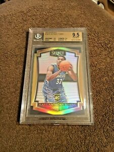 Karl-Anthony-Towns-RC-2015-16-Select-136-Silver-Prizm-BGS-9-5-Read