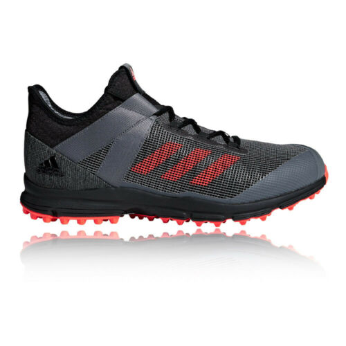 adidas Mens Zone Dox Hockey Shoes Pitch Field Black Sports Breathable Trainers