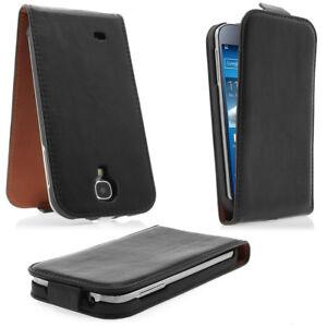 Samsung-Galaxy-S4-i9505-i9500-Case-Flip-Tasche-Handy-Huelle-schwarz