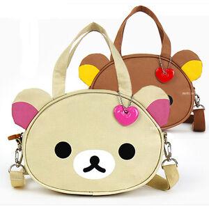 1x-Cute-Rilakkuma-Head-Shoulder-Tote-Bag-Handbag-Messenger-Crossbody-Kid-Girls