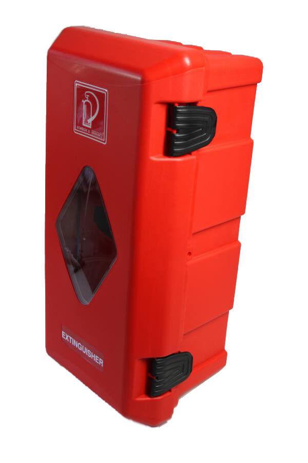 Feuerlöscher-Schutzschrank Gimbox LkW 6kg mit Halter robust u. dicht