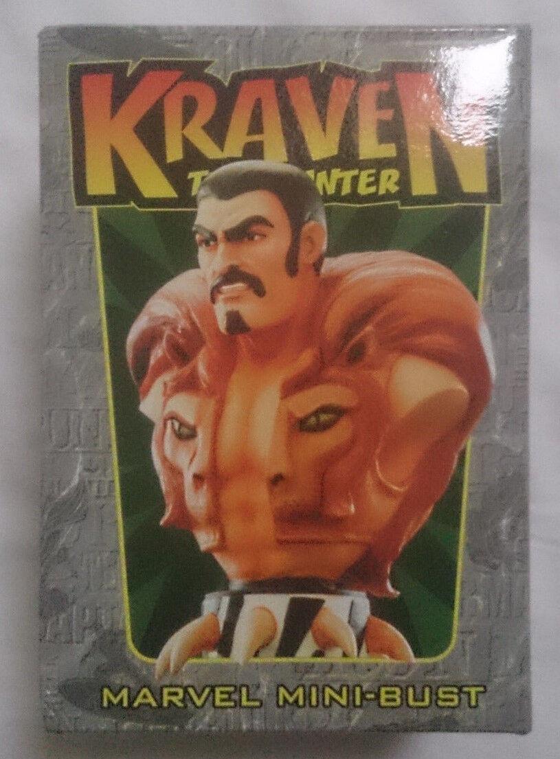Marvel Comics Bowen Uomo Ragno KRAVEN IL CACCIATORE mini busto/statua con scatola in buonissima condizione