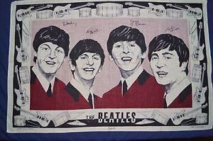 RARE-Collectable-Vintage-IRISH-LINEN-The-BEATLES-Souvenir-Retro-Unused-Tea-Towel