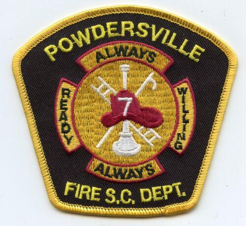 POWDERSVILLE SOUTH CAROLINA SC Always Ready Always Willing FIRE PATCH
