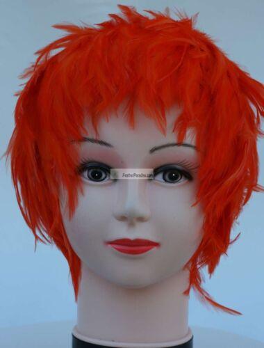 Wig Hackle Feather Wig Halloween Wig Bird Dance Wig Costume Wig 11 colors!