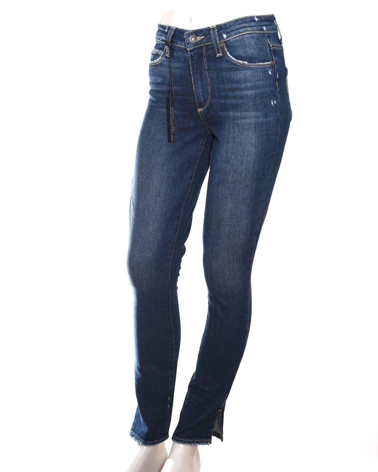Paige Hoxton Ankle Peg Jeans Sz 24 Dark Vintage Denim High Rise Skinny Ankle NWT