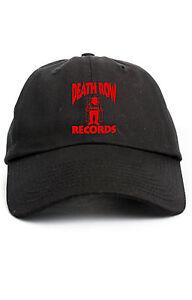 DEATH ROW RECORDS CUSTOM DAD HAT ADJUSTABLE CAP NEW - BLACK w  RED ... cc5a50ed193