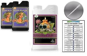 Advanced Nutrients Sensi Bloom A & B 1L & Voodoo Juice 500mL  w/Card & Pipette
