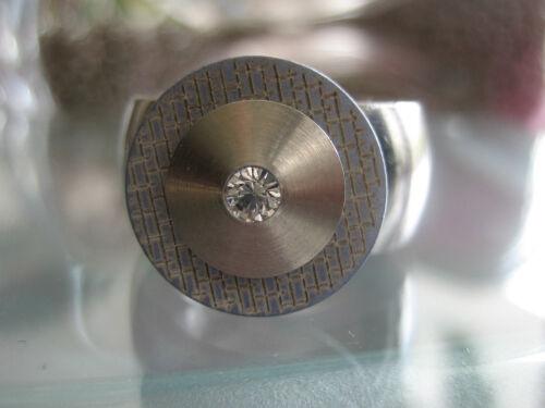 Grau 15mm kompatibel mit Charlotte 21 Perlmutt-Scheibe Touch gemustert