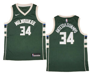 separation shoes 32ead a8022 Details about Youth Nike Giannis Antetokounmpo Bucks Green Swingman Jersey  - Icon Edition