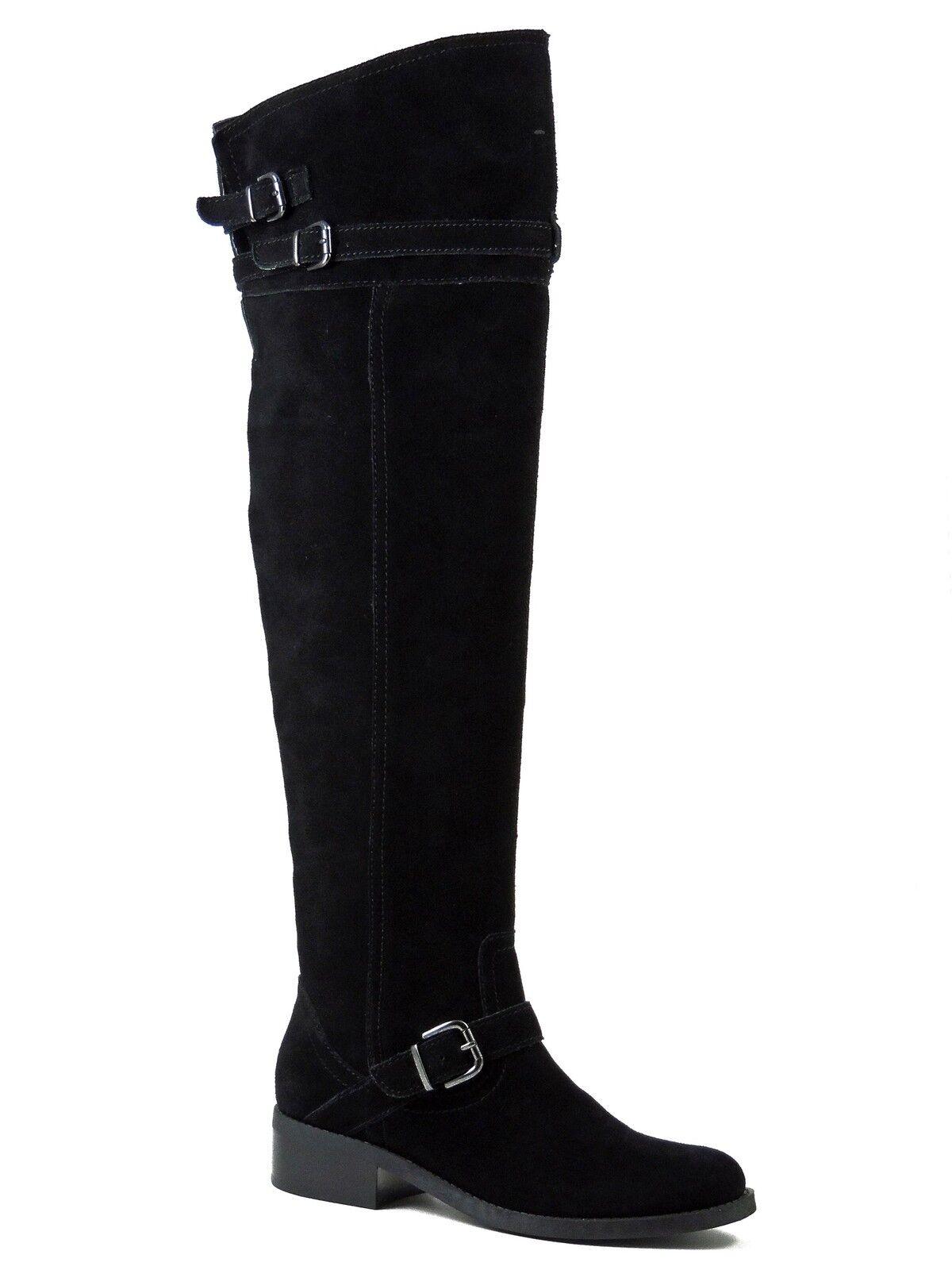 Marc Fisher para mujer elmm elmm elmm la rodilla botas altas Negro Mediano Natural Gamuza Talla 6.5 M  disfruta ahorrando 30-50% de descuento