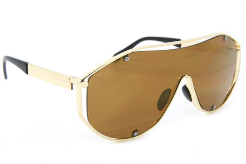 Oversized Women Sunglasses Futuristic Metal Frames Mirrored and Gradient Lens