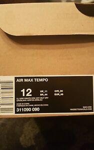 NIKE AIR MAX TEMPO SZ 12 COOL DARK WOLF GREY WHITE 311090 090  fbbc9336f