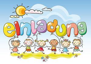 Detalles De 6 Tarjetas De Invitación Para Cumpleaños Infantiles O Fiesta Niños Con Lustigen