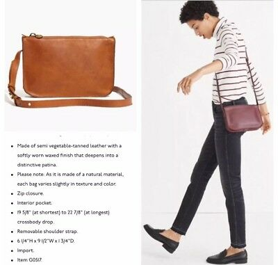 New With Tag Madewell The Simple Crossbody Bag English Saddle Brown Leather Ebay