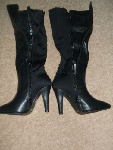 NEW SIZE 3 4 5 6 7 8 BLACK CAMEL FAUX LEATHER JEWEL OVER KNEE HIGH THIGH BOOTS
