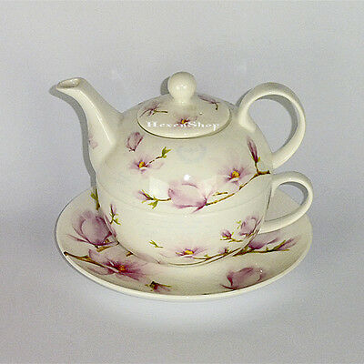 Tea for one Set Magnolia - Fine Bone China Porzellan